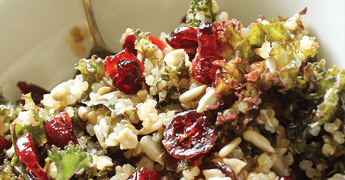 Kale and Quinoa Salad with Cranberries
